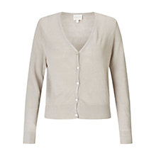 Buy East V-Neck Linen Cardigan, Stone Online at johnlewis.com