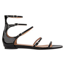 Buy Whistles Cienega Multi Strap Sandals, Black Online at johnlewis.com