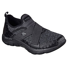 Buy Skechers Sport Flex Appeal 2.0 Trainers, Black Online at johnlewis.com