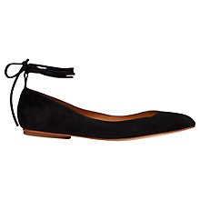 Buy Whistles Brook Ankle Tie Pumps, Black Online at johnlewis.com