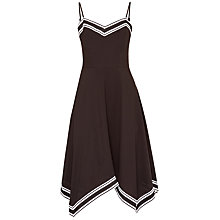Buy Ted Baker Kahmen Strappy Asymmetric Hem Dress, Black Online at johnlewis.com