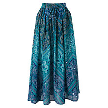 Buy East Lila Bandhini Skirt, Ink Online at johnlewis.com
