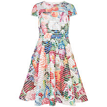 Buy Ted Baker Dolci Floral Swirl Midi Mesh Dress, Fuschia Online at johnlewis.com