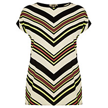 Buy Oasis Chevron Stripe T-Shirt, Multi Online at johnlewis.com