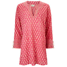 Buy East Chandhi Embellished Kurta Top, Pink Online at johnlewis.com