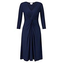 Buy East Twist Front Jersey Dress, Navy Online at johnlewis.com