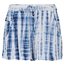 Buy French Connection Holiday Wave Mini Shorts, Indigo Online at johnlewis.com