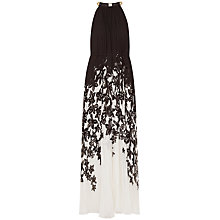 Buy Ted Baker Jolena Floral Pleated Maxi Dress, Black Online at johnlewis.com
