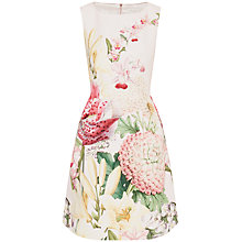 Buy Ted Baker Gemisa Encyclopedia Floral Dress, Nude Pink Online at johnlewis.com