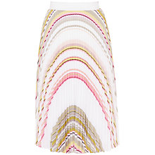 Buy Ted Baker Gaelaa Carousel Stripe Pleated Midi Skirt, Olive Online at johnlewis.com