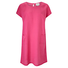 Buy East Scoop Neck Linen Dress, Pink Online at johnlewis.com