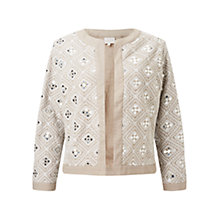 Buy East Stone Mirror Work Jacket, Stone Online at johnlewis.com