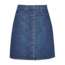 Buy French Connection Mia Denim A-line Skirt, Stone Wash Online at johnlewis.com