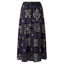 Buy East Silk Bandini Print Skirt, Black Online at johnlewis.com