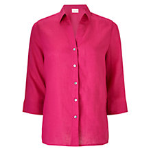 Buy East Linen Fitted Shirt Online at johnlewis.com