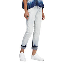 Buy French Connection Tie Dye Hem Jeans, Bleach Online at johnlewis.com