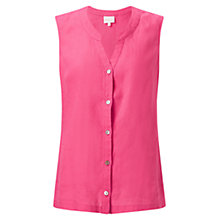 Buy East Linen Sleeveless Shirt, Pink Online at johnlewis.com