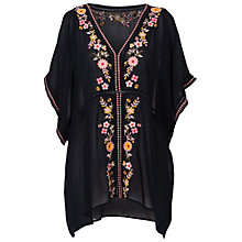 Buy French Connection Sunshine Bloom Embroidered Top, Utility Blue Multi Online at johnlewis.com