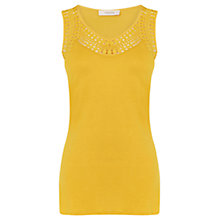 Buy Oasis Tribal Trim Vest, Mid Yellow Online at johnlewis.com