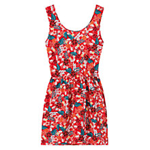 Buy Mango Floral Print Dress, Red Online at johnlewis.com
