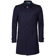 Buy Ted Baker Alcudia Single Button Mac, Navy Online at johnlewis.com