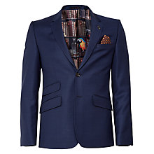 Buy Ted Baker Bobjak Tailored Suit Jacket, Blue Online at johnlewis.com
