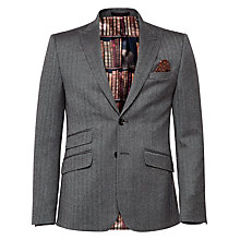 Buy Ted Baker Regforj Herringbone Wool Regular Suit Jacket, Grey Online at johnlewis.com