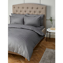 Buy John Lewis Satin Stripe 210 Thread Count Egyptian Cotton Bedding Online at johnlewis.com