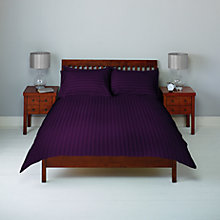Buy John Lewis Satin Stripe 210 Thread Count Egyptian Cotton Bedding, Damson Online at johnlewis.com