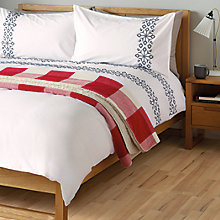 Buy John Lewis Snowflake Embroidered Duvet Cover and Pillowcase Set Online at johnlewis.com