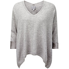 Buy Pure Collection Yasmin Cashmere Satin Cuff Sweater, Heather Dove Online at johnlewis.com