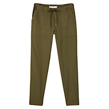 Buy Mango Linen-Blend Pocket Trousers Online at johnlewis.com