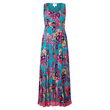 Buy East Hope Print Pleated Dress, Lagoon Online at johnlewis.com
