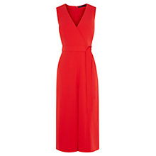 Buy Karen Millen Tie Belt Jumpsuit, Red Online at johnlewis.com