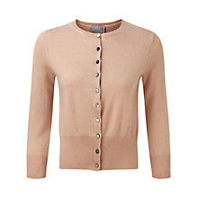 Buy Pure Collection Rachael Cashmere Cardigan, Warm Sand Online at johnlewis.com