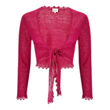 Buy East Linen Tie Cover Up Cardigan, Pink Online at johnlewis.com