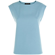 Buy Jaeger Jersey Cap Sleeve Top, Pale Blue Online at johnlewis.com