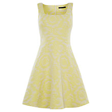 Buy Karen Millen Floral Jacquard Dress, Yellow Online at johnlewis.com
