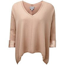 Buy Pure Collection Zara Cashmere Satin Cuff Sweater, Warm Sand Online at johnlewis.com