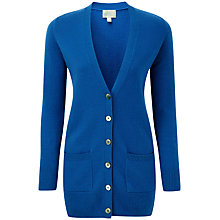 Buy Pure Collection Morgan Cashmere Boyfriend Cardigan, Spring Sapphire Online at johnlewis.com