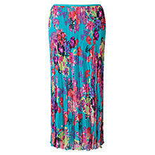 Buy East Hope Print Pleated Skirt, Lagoon Online at johnlewis.com