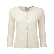 Buy Pure Collection Valeria Cashmere Cardigan, Soft White Online at johnlewis.com