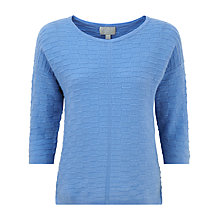 Buy Pure Collection Zuri Gassato Cashmere Textured Sweater, Cornflower Blue Online at johnlewis.com