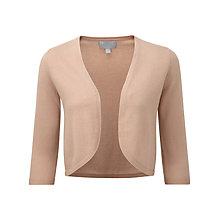 Buy Pure Collection Samara Cashmere Shrug, Warm Sand Online at johnlewis.com