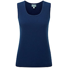 Buy Pure Collection Nylah Cashmere Tank Top, French Navy Online at johnlewis.com