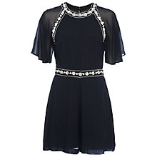 Buy French Connection Impala Drape Short Sleeve Playsuit, Utility Blue Online at johnlewis.com