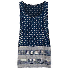 Buy French Connection Castaway Drape Print Vest Top, Indian Ocean Multi Online at johnlewis.com