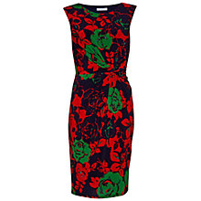 Buy Gina Bacconi Floral Print Jersey Dress, Navy Online at johnlewis.com