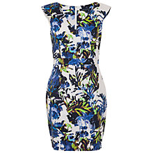 Buy French Connection Kiki Palm V Neck Dress, Brule/Multi Online at johnlewis.com