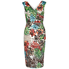 Buy Gina Bacconi Tropical Metallic Print Jersey Wrap Dress, Multi Online at johnlewis.com